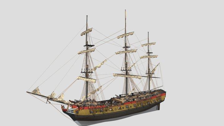 Aleksandr class archipelago frigate 3D Model