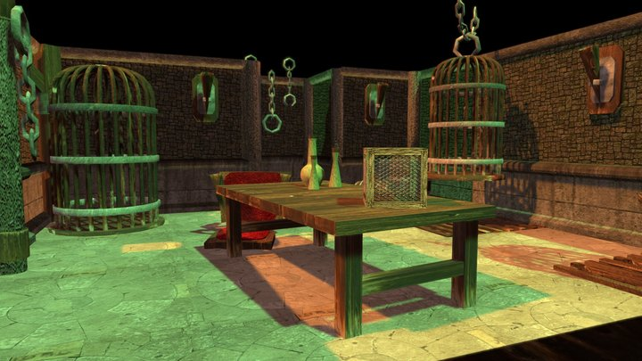Old Dungeon Torture Chamber 3D Model