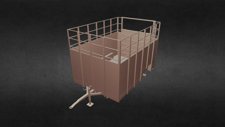 Cattle Trailer 3D Model