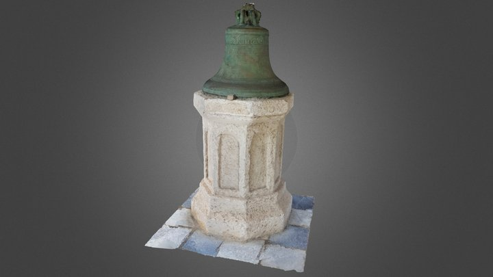 Old bell of St. James Parish Church, Barbados 3D Model