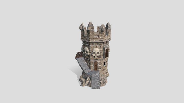 Skull Tower 3D Model