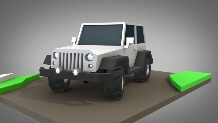 Low Poly Off-Road Vehicle 3D Model