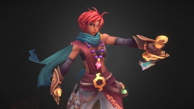 Desert Girl 3D Model