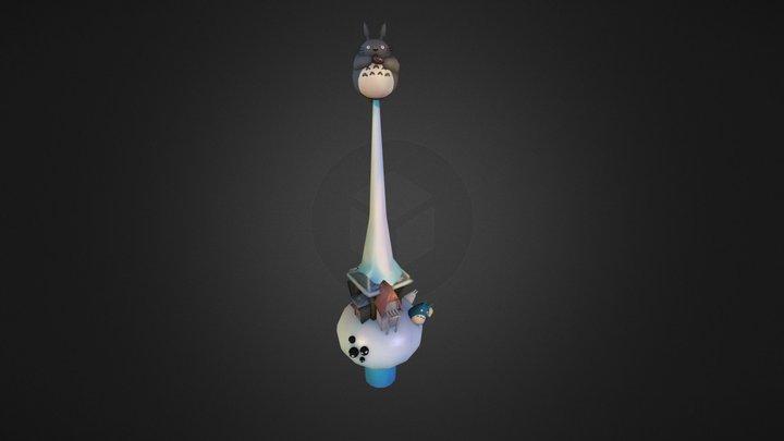 Totoro Christmas Ornament - UCAC4  3D Model
