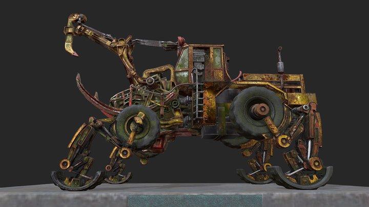 Wheel loader Ł-34 -  Monster Machine 3D Model
