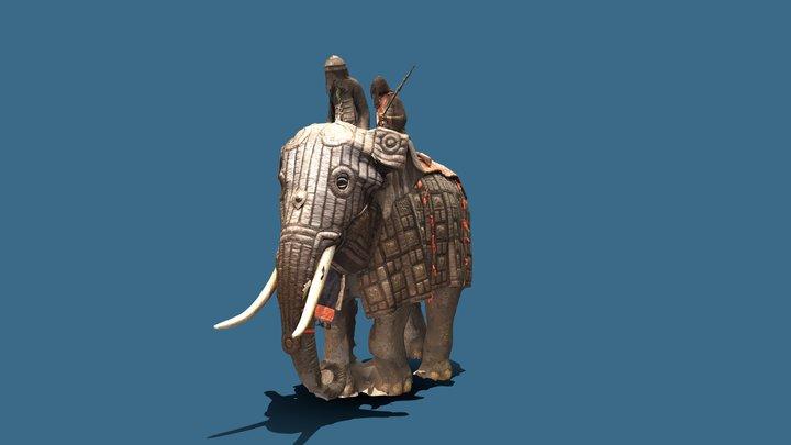 Armoured Elephant 3D Model