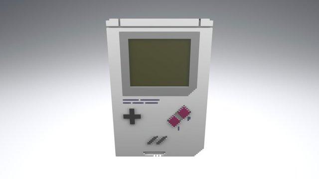 Voxel Gameboy 3D Model
