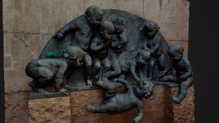 Fuente de los Niños Mariano Benlliure 3D Model