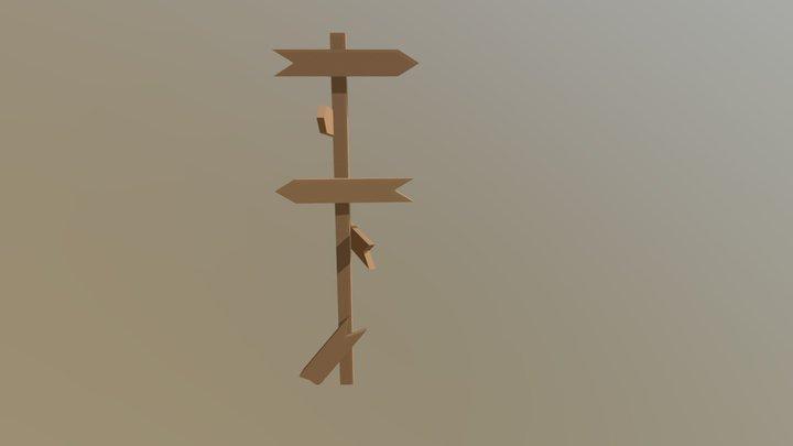 Placa De Direção 3D Model