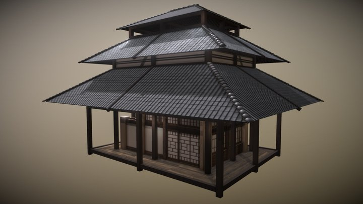 VR Japanese Tea House - Casa de té Japonesa 3D Model