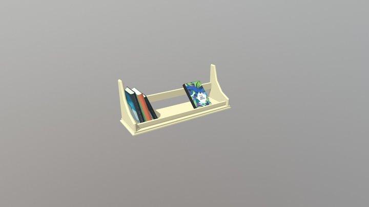 полка с книгами 3D Model
