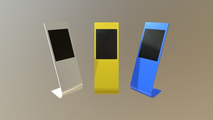 Sample of information kiosk with touchscreen 3D Model