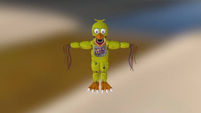 Gangnam Style (withered chica 3D Model
