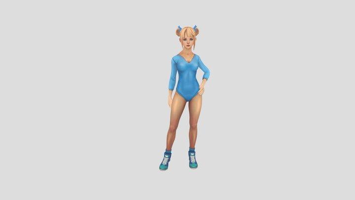 Dance Dance Girl 3D Model
