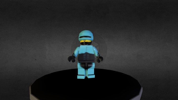 Lego Robocop 3D Model