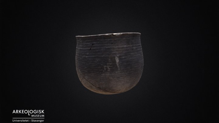 Soapstone pot from the iron age. 3D Model