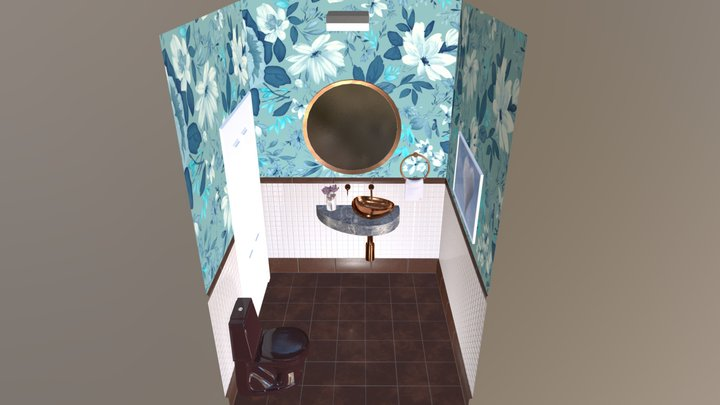 Powder Room 3D Model