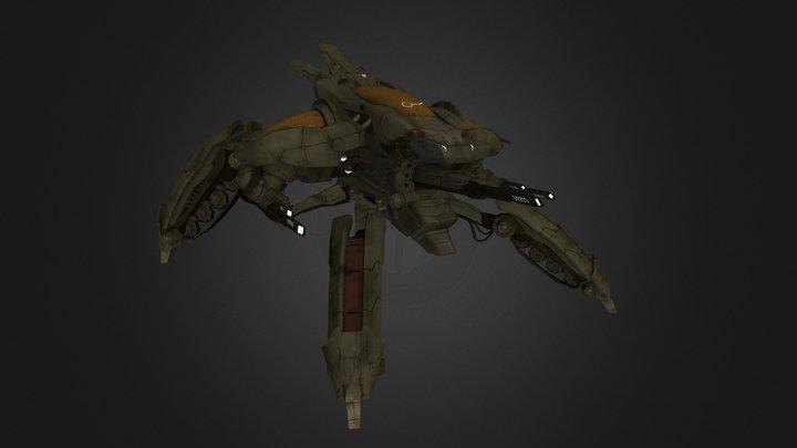 Sci-Fi Tri-Tank 3D Model