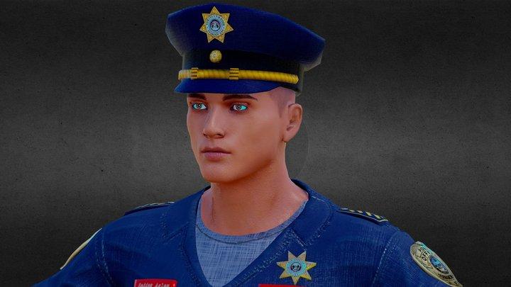 Police Officer 3D Model 3D Model