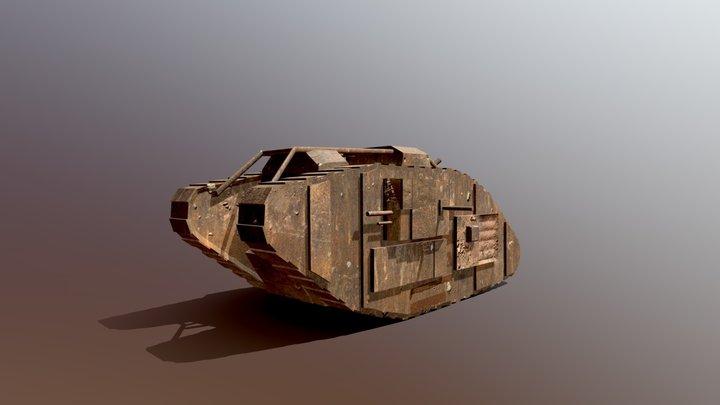 WW1 tank 3D Model