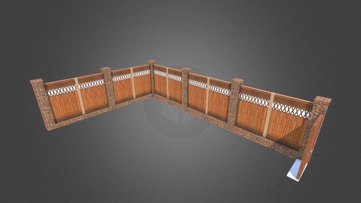Prestwick Pool Fence 3D Model