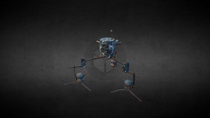 Propeller robot (Enemy) for Water world MMO 3D Model