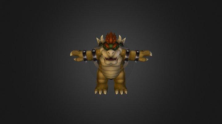 Wii - Super Smash Bros Brawl - Bowser 3D Model
