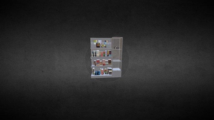 Regal Na Ksiazki 3 3D Model