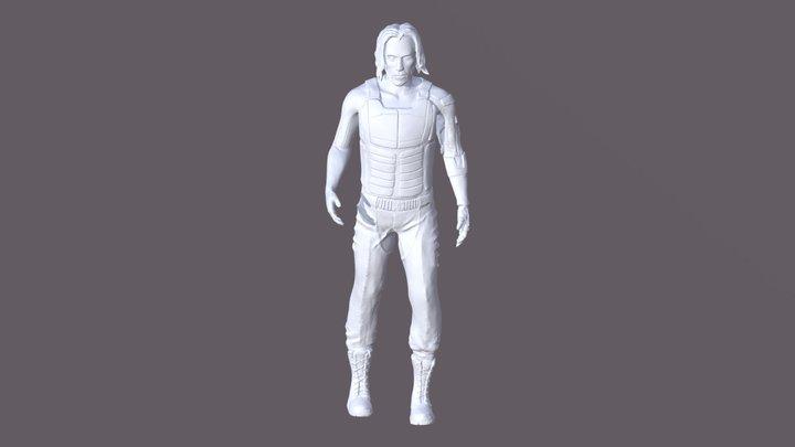 Cyberpunk Keanu Charles Reeves 3D Model