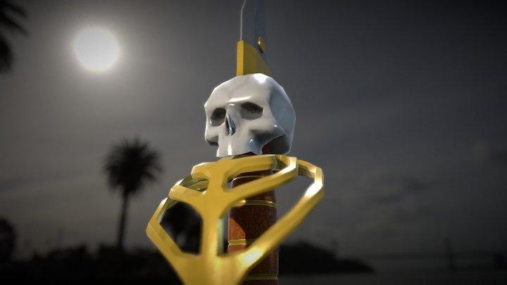 Skeleton Cutlass 3D Model