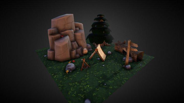 Camping Scene 3D Model