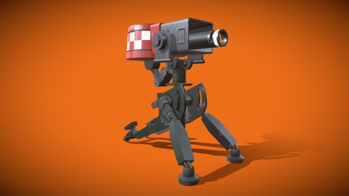 Turret_Team Fortress 2 3D Model