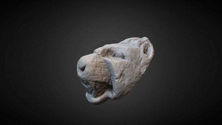 Cap de leu funerar roman 3D Model