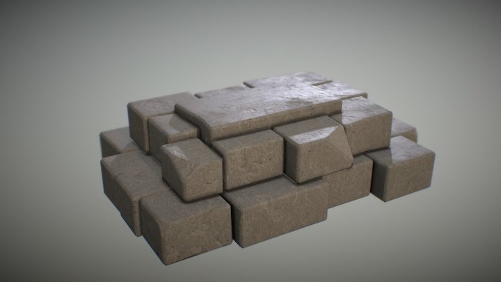 Stones (texturing tryouts) 3D Model