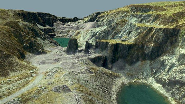 Stone Quarry 3D Model Wales 3D Model
