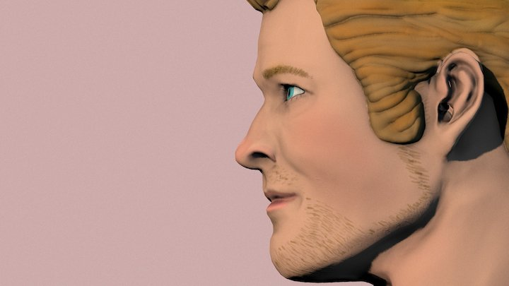Chris Hemsworth 3D Model