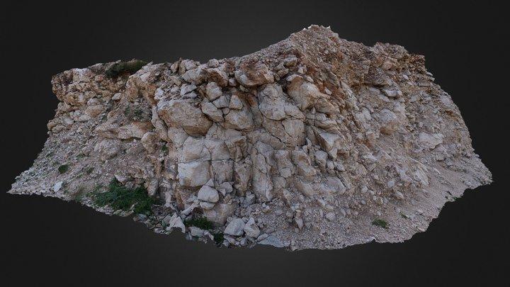 Limestone outcrop 3 3D Model