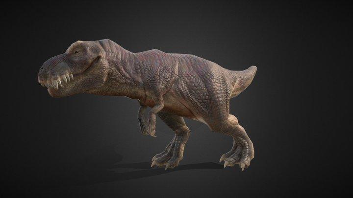 Low poly T-rex 3D Model