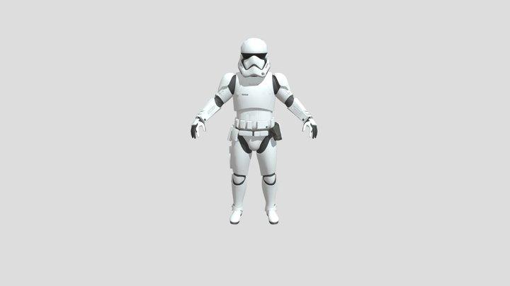First order Trooper 3D Model