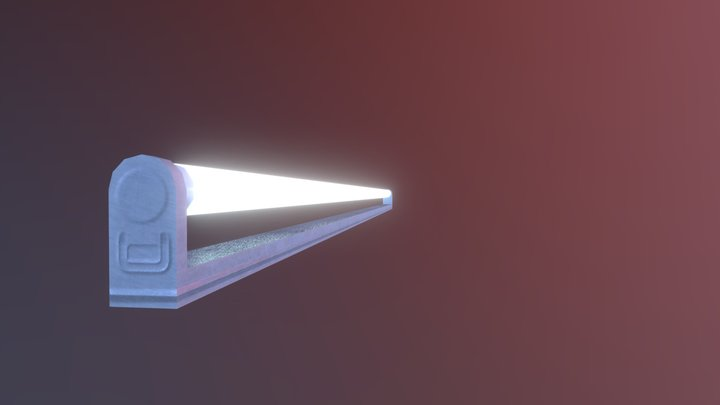 Fluorescent Lamp 3D Model
