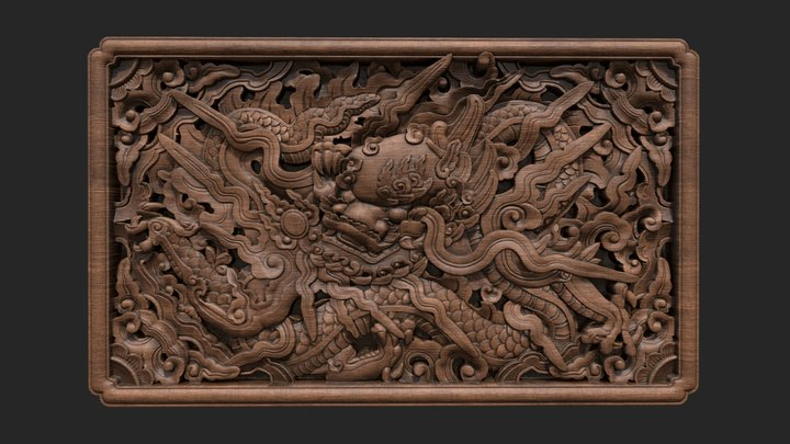 Dragon Le Dynasty - 17th century 3D Model