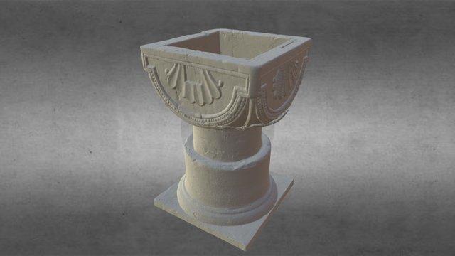 12th Century Baptismal Font 3D Model