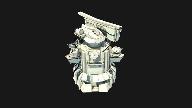 Railgun Tower concept 3D Model