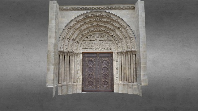 Porte de la Cathédrale Saint Denis 3D Model