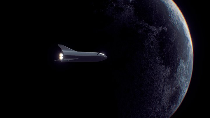 Space X Starship 3D Model