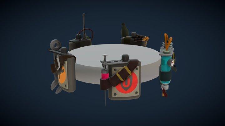 Mann vs Machine Square Flask 3D Model