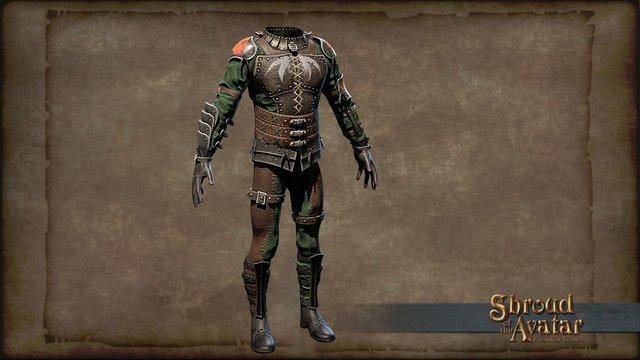 Elven Archer Armor 3D Model