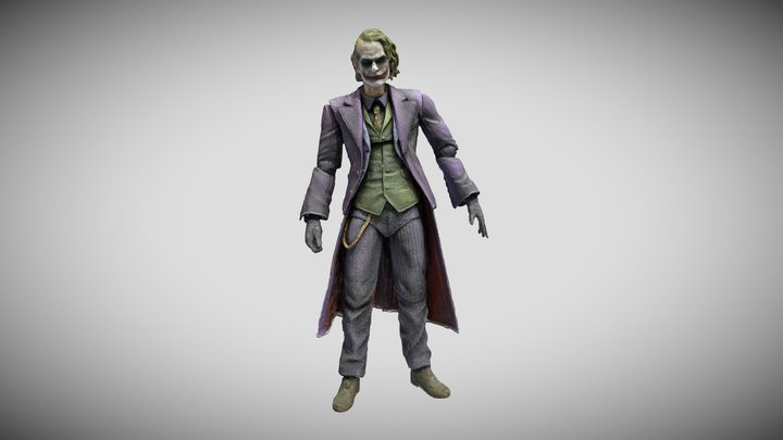 <!--Day1--> The Dark Knight Joker 3D Model