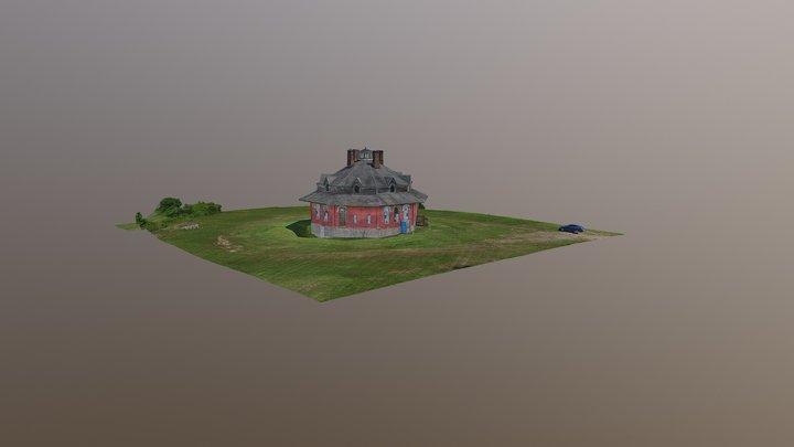 Gregg-Crites Octagon House, Circleville, Ohio 3D Model