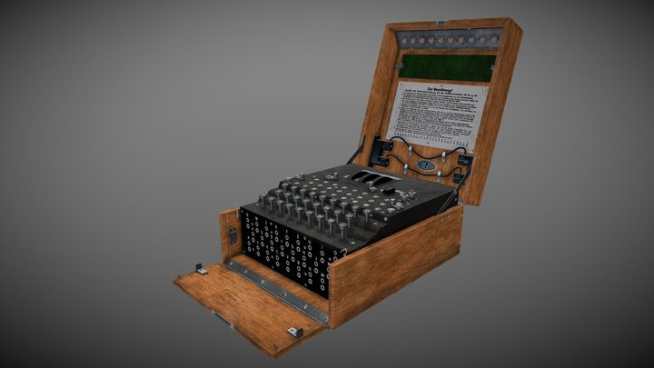 Enigma machine 3D Model